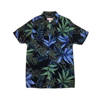 Hawaiian shirt 夏威夷恤衫花花襯衫古著 vintage top retro 二手復古 Zara polo