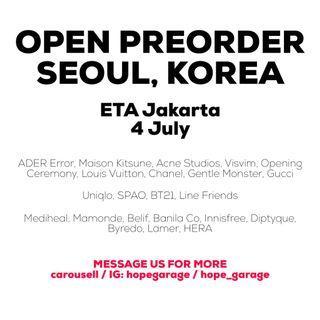 Open Preorder Seoul