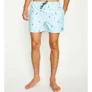 全新品Spencer Project Slammer Boardshort Blue 沙灘陽光酒瓶淺藍色海灘褲S號30腰