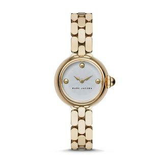 NEW MARC BY MARC JACOBS MJ3457 Women's Courtney Silver Dial Ladies Gold Tone Watch