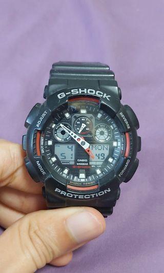 G Shock GA-100-1A4DR Watch