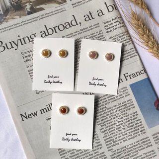 韓國可愛糖果色氣質珍珠耳環