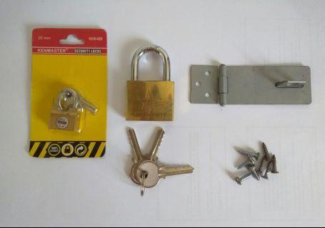 Padlock & Key Set/Gembok Set
