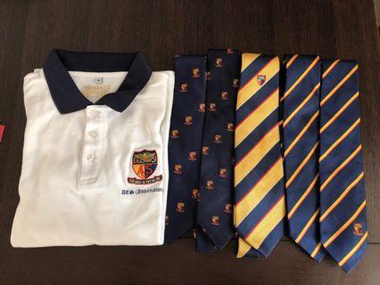 ACS uniform ties and FOC school polo (bundle)