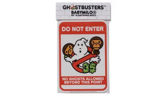 Bape x ghostbusters baby milo sticker