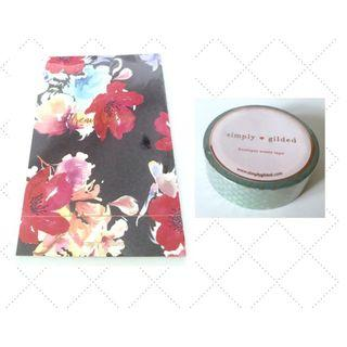 (GSS) Fantasy Floral Notebook and Mermaid Scale Washi Set by Simply Gilded