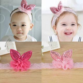 (B36) Baby Girl Children Princess Rabbit Ear Cute Photoshoot Props Headband Hair Band Hair Clip Accessories