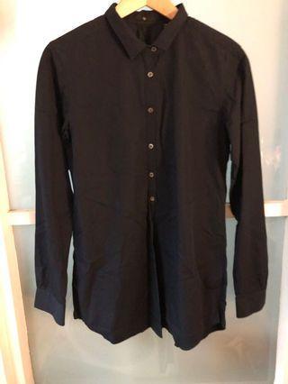 Uniqlo shirt dress (navy blue)