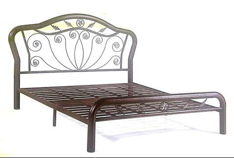 Powder Coat Metal Double Bed Frame