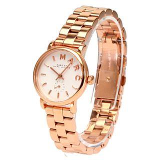 New MARC BY MARC JACOBS Baker White Dial Rose Gold-plated Ladies Watch (MBM3248)