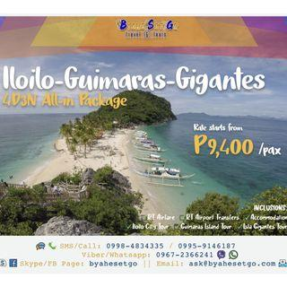 4D3N Iloilo Guimaras Gigantes All-In Tour Package