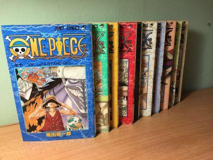 One Piece Comics Vol.1-10 (Japanese)