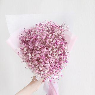 Baby Breath Bouquet ( Pink)