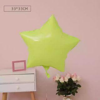 🚚 18-inch Macarons Green Star Shape Foil Balloon