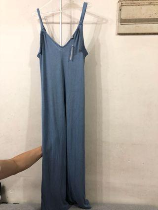 New! Knot strap rib column dress