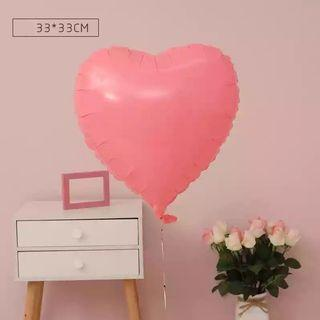 🚚 18-inch Macarons Red Heart Shape Foil Balloon