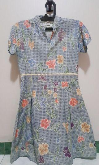 FREE ONGKIR Dress Batik LIKE NEW