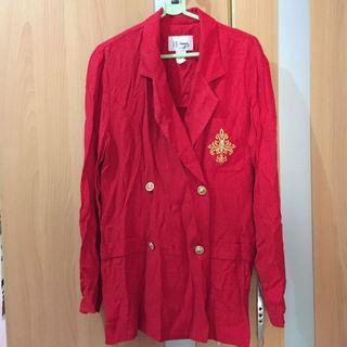 Red Blazer with Gold emblem