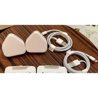 Apple 原裝叉電線及原裝插頭