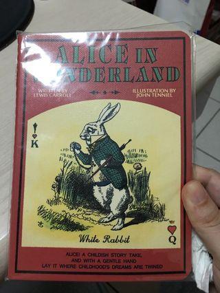 🚚 愛麗絲夢遊仙境方格筆記本