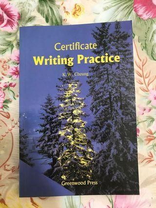 Certificate Writing Practice