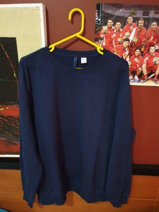 (Promo hari ini harga85k) Sweater Crewneck Basic Navy HnM