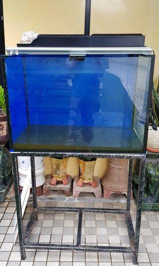 3ft by 2ft by 50cm custom made tank and stand for sale ( discus not included)