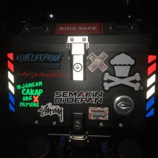 Top Case Reflective Stickers: Coocase X1 40L Top Box (Free Postage!)