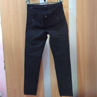 Promod grayish black stretchable pants