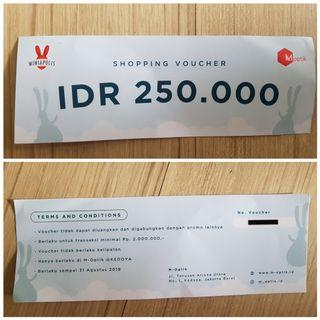 Shopping Voucher M-Optik Kedoya