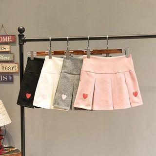Suede Heart Tennis Skirt