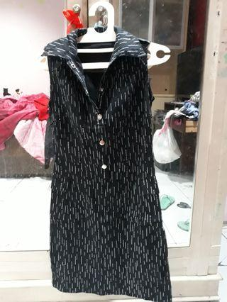 dress hitam kemeja