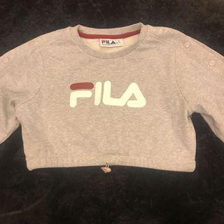 Fila crop with buttoned sleeves