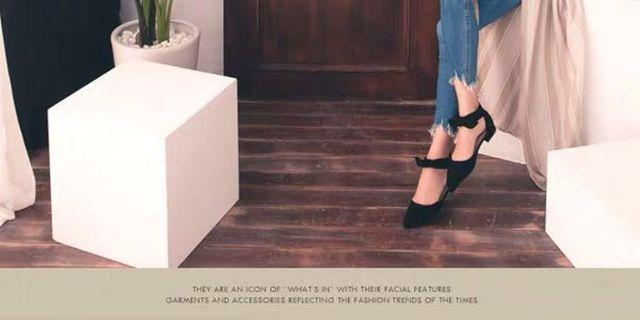 🚚 Grace gift Black Ribbon Heel