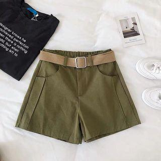 [ BNWT ]Army Green High Waist Shorts with Belt #JunePayDay60