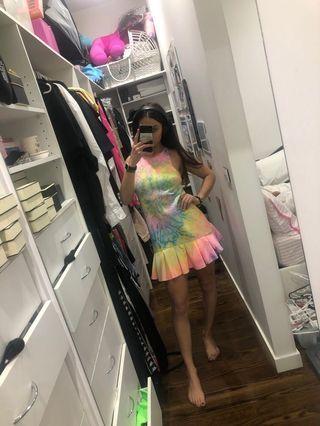 Tie die rainbow dress