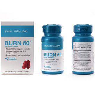 🌳旺角門市🌳兩樽裝💥 GNC Burn 60 燃脂 60 💥減肥配方 Total Lean™ Burn 60™ CLA L carnitine