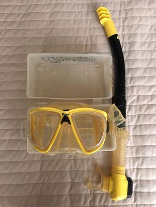 Cressi diving/snorkeling mask