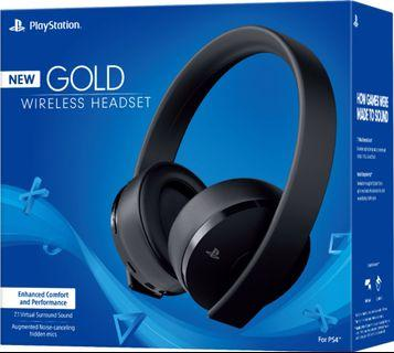 PS4 Gold Wireless Headset