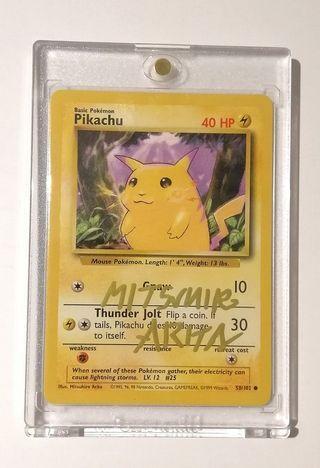 Mitsuhiro Arita Signed Base Set Pikachu