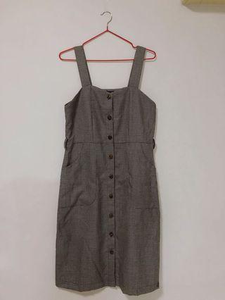 Houndstooth Button Down Dress