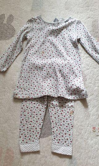 Petit Bateau blouse and pants