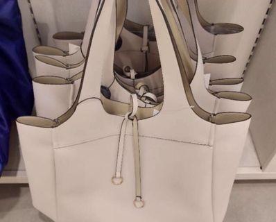 TOTE BAG H&M Putih Gading