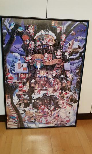 聖誕老人 1000塊puzzle (連框)