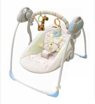 Portable Swing - Adjustable Seat, Auto-swinging modes, Soothing Melodies