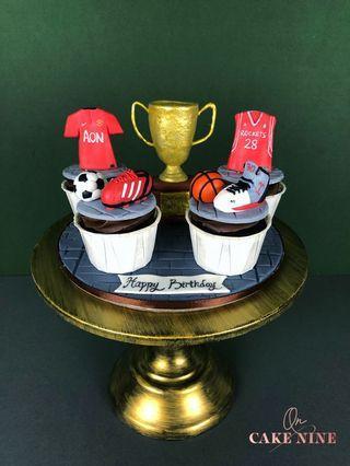 Sports Champion Bespoke Cupcake Set