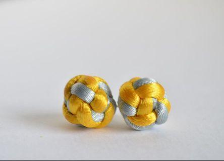 Button Knot Earrings