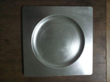 銀色木漆盤