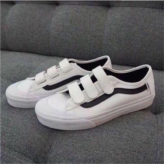 【近全新】Vans Black Ball 白底黑線魔鬼氈|Koreasha韓國代購 正品請放心|百搭白鞋|原盒裝