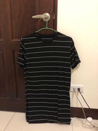黑色條紋洋裝